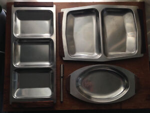 Mid-Century Modern Danish Stainless Steel Serving Dishes