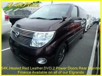 2008 08 NISSAN ELGRAND HIGHWAY STAR 3.5 RED LEATHER PREMIUM EDITION