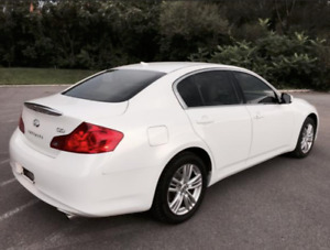 infinity G25x 2011 Pearl white/tinted windows