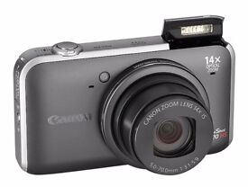 Canon PowerShot SX220 HS 12.1MP Digital Camera - Grey with Canon Leather Case