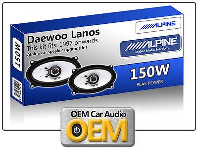 Daewoo Lanos Rear Door speakers Alpine car speaker kit 150W Max power 4x6 for sale  Shipping to Ireland