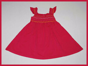 Gymboree Shirred Pink Smocked Knit Flutter Dress Girls Size 4