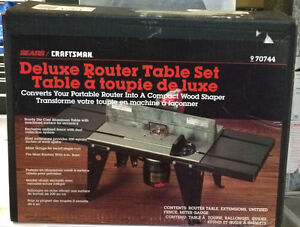 Craftsman Deluxe Router Table Set