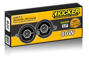 Saab 9-3 Front Dash Speakers Kicker 3.5