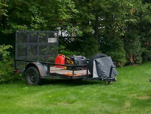 Flatbed trailer. Heavy duty 9x5 ft