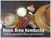 The Perogy Factory is teaching Kombucha (Fermented Sweet Tea)