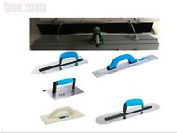 "4ft X 8"" Magnesium Concrete Bullfloat + Poles & Brush & OX Tools Kit Deal 11pc"
