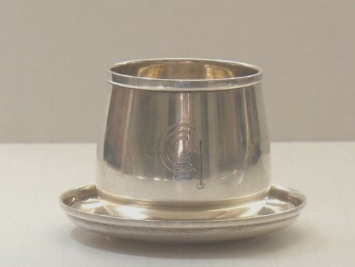 International Sterling Silver Individual Cigarette Cup & Ashtray, Golf Club Logo