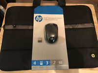 HP wireless mouse - comes with sleeve case