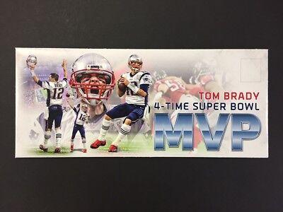 Tom Brady Super Bowl Li Mvp New England Patriots Nfl Event Cover   No Postmark