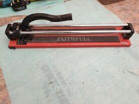Faithfull 600mm Trade Tile Cutter with a tungsten carbide cutting wheel