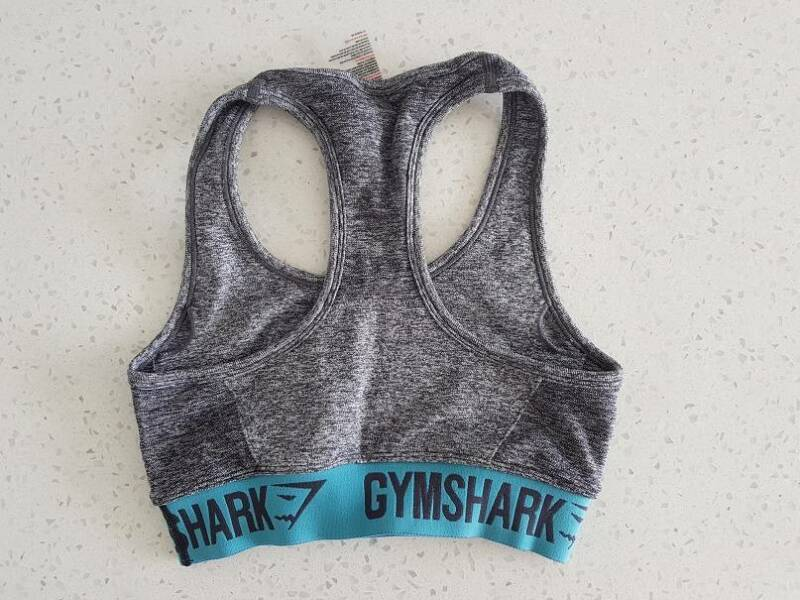 59117e0b44 As New Gymshark Flex Sports Bra Charcoal Marl  47 Dusky Teal Size S ...