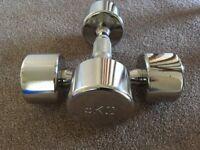 Chrome Dumbells 2 x 5kg