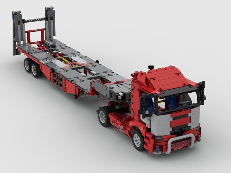 RBi PDF Bauanleitung Schwerlastzug TGX 8x4//4 SLT Eigenbau Mack Anthem MOC LEGO