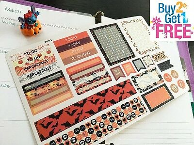 PP113 -- 32pcs Halloween Kit Life Planner Stickers for Erin Condren  - Pp Halloween