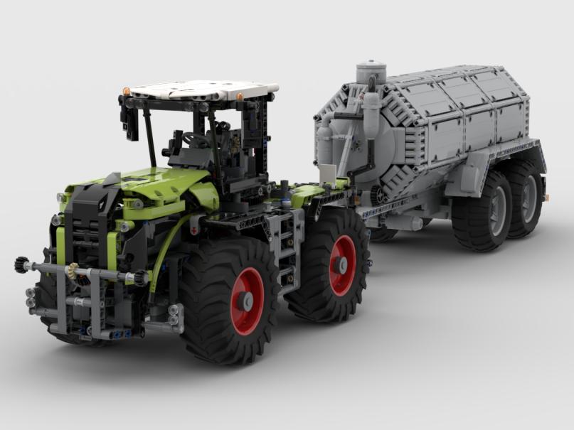 RBi Bauanleitung 42054 Großflächenstreuer Eigenbau Claas Xerion aus LEGO® Steine