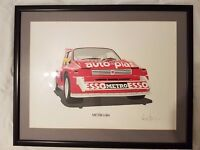 Metro 6R4 framed signed Painting Print