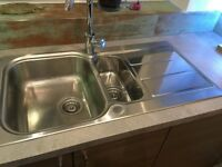 Kitchen Sink in used condition without tap