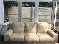 Real Leather Sofa 3 Seater