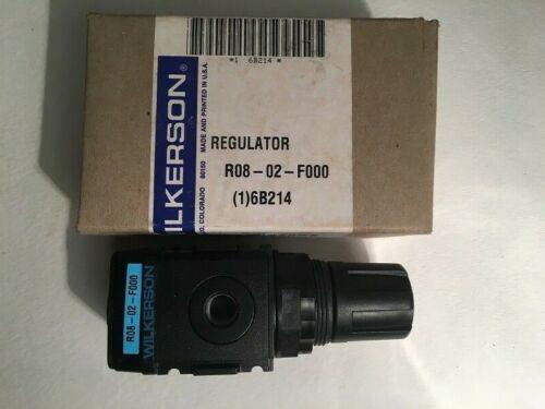 """WILKERSON R08-02-F000 Air Pressure Regulator, 1/4"""", 1-125 psig"""