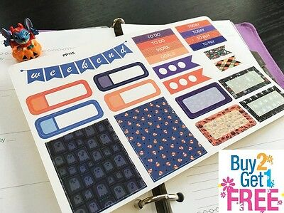 PP115 -- Halloween Weekend Life Planner Stickers for Erin Condren (23pcs) - Pp Halloween