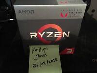 Ryzen 3 2200G processor and fan as new