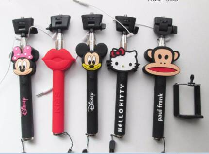 Cartoon BUILT-IN Shutter Remote Bluetooth Selfie Stick Unipod for Subiaco Subiaco Area Preview