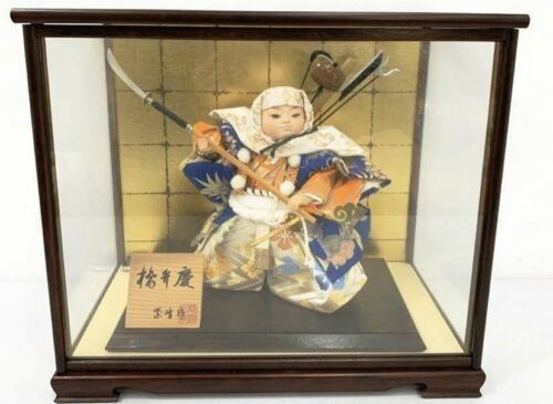 Japanese Traditional Antique Vintage Samurai doll warrior Figure Armor BENKEI M