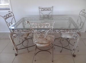 Glass Top Dining Table - 4 or 6 seater