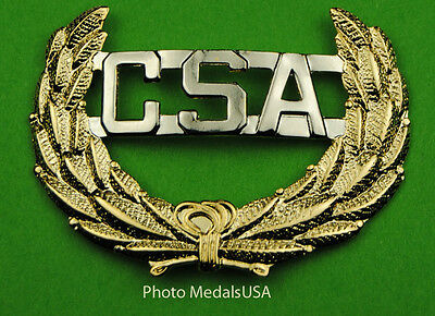 Civil War Confederate States of America CSA Army Hat / Cap Badge - C.S.A.