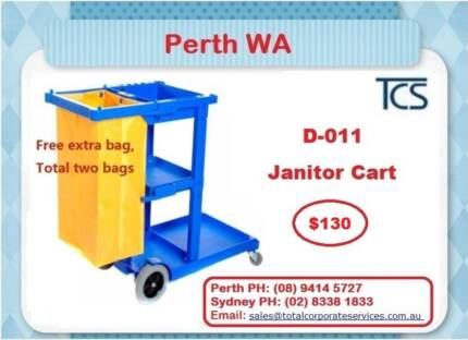 Janitor Carts Housekeeping Trolley Mop Wring Trolley Snap Frame Aubin Grove Cockburn Area Preview