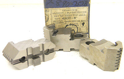 3 New Toolmex Top Hard Lathe Chuck Jaws For 8 Chuck 7-890-208