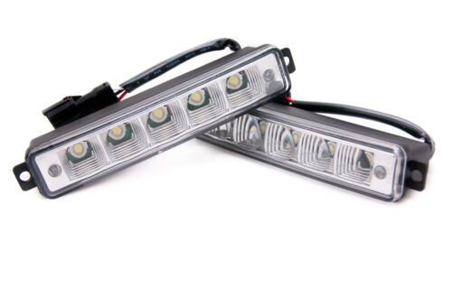 5 LED X-Treme High Power 15cm DRL Lights Lamps Daytime Auto Switch E4 Lexus All