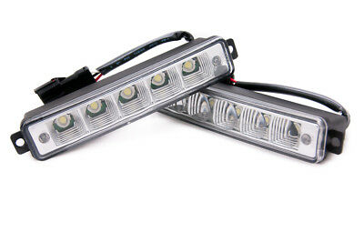 5 LED X Treme High Power 15cm DRL Lights Lamps Auto Switch For Nissan All