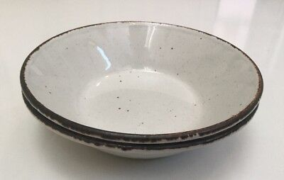 """Stonehenge Midwinter Creation Cereal Bowls Coupe 6 1/2"""" England Set 2"""