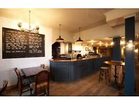 Part time Bar/floor staff required Weekends & some evenings-Blackheath. Good rates of pay