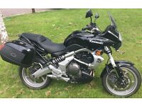 2007 Kawasaki Versys 650, 11580 miles, pristine condition, MOT, automatic chain greasing, alarm.