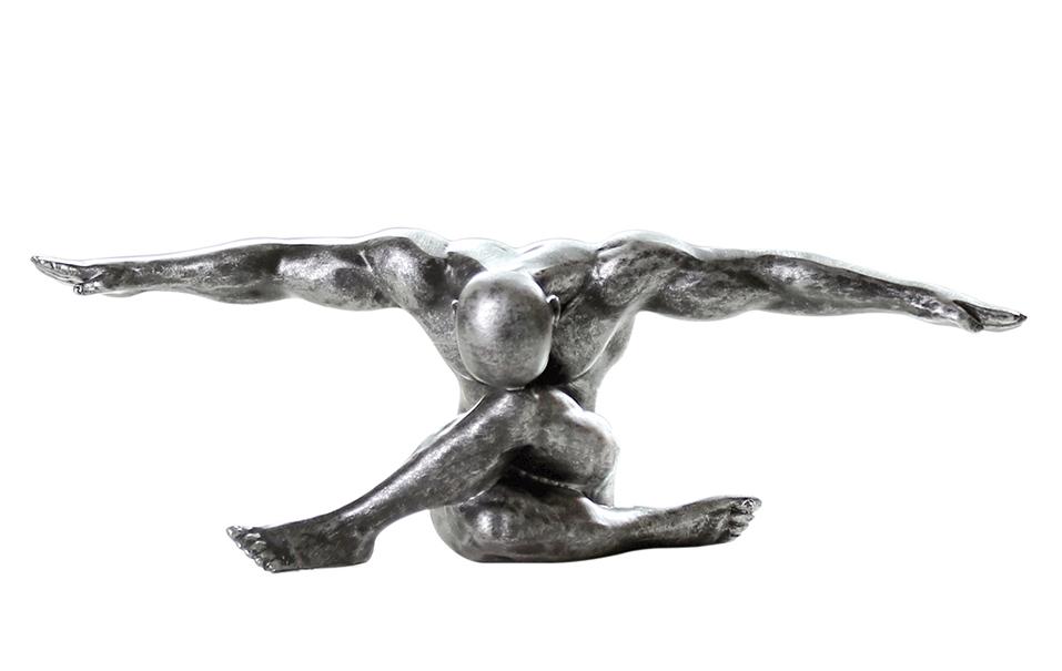 Figur Skulptur Cliffhanger Casablanca Deko Poly antik Mann Akt Sport Statue