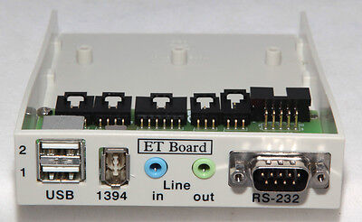 Pc Front Access Board 2 Usb, Firewire, Serial Rs232, Audio Line In/out Ports
