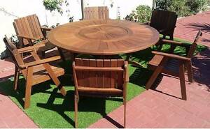 STUNNING HARDWOOD OUTDOOR SETTING with BUILT IN LAZY SUSAN Coombabah Gold Coast North Preview