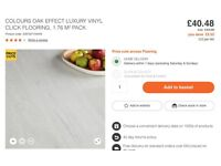 Colours - Luxury vinyl click Flooring - 2 Packs RRP £88