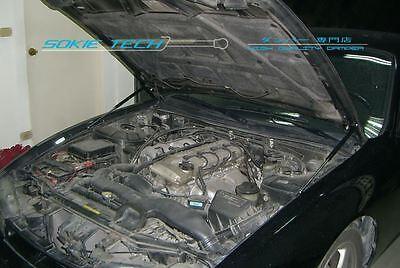 Hood Shock Gas Lift Strut Carbon Fiber Damper For Nissan 240SX S14 Silvia 95-98 ()