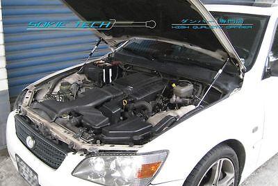 99-05 Lexus IS200 IS300 GXE10 LHD Black Strut Gas Lift Hood Shock Damper Kit - Hood Damper Kit