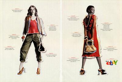 2003 Ebay vintage fashion 4-page MAGAZINE AD