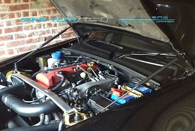 00-09 Honda S2000 AP1 AP2 Black Strut Shock Lift Support Gas Hood Damper Kit - Hood Damper Kit