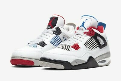 Nike Air Jordan 4 Retro Basketball Shoes for Men, Size US 10 - Deep Royal...