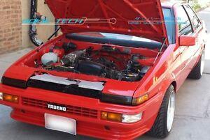 83-87 Toyota AE86 Black Strut Gas Lifter Hood Shock Stainless Damper Kit