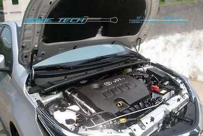 Black Strut Hood Shock Lift Gas Damper Kit for 14-16 Toyota Corolla / Altis - Hood Damper Kit