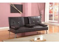 *FREE NEXT DAY UK DELIVERY* Verona Italian Style Leather Sofabed**7-DAY MONEY BACK GUARANTEE!**