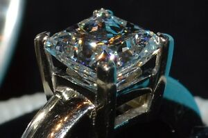Maison Birks Princess Solitaire Diamond Ring 2.06 Ct